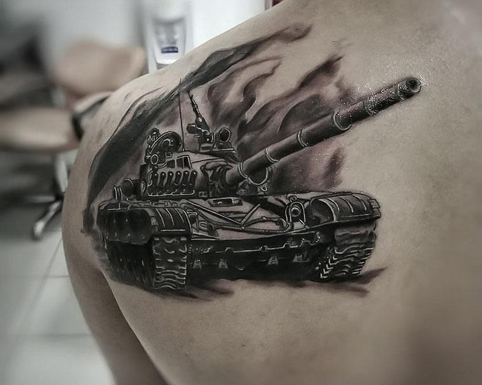 Вариации армейских татуировок