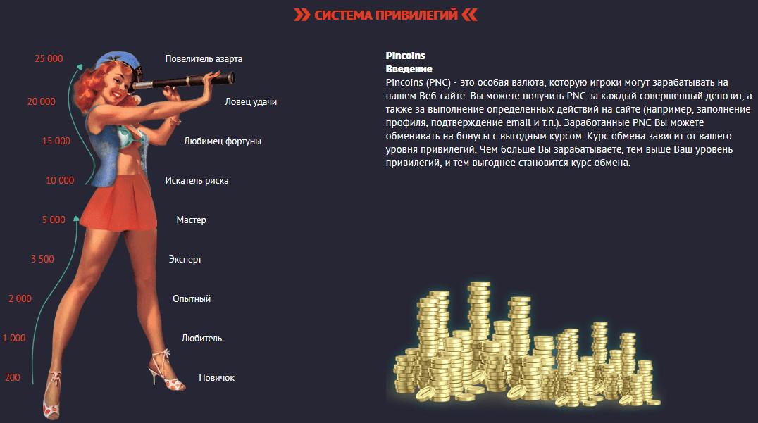 Привилегии казино