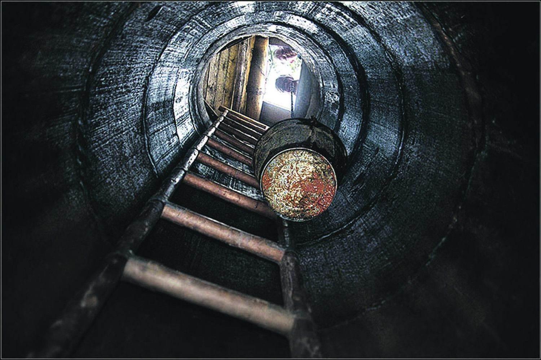 шахтный колодец: вид снизу