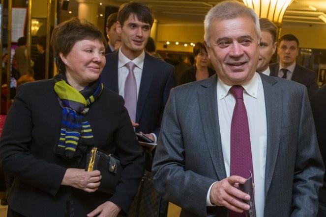 Вагит Алекперов с женой