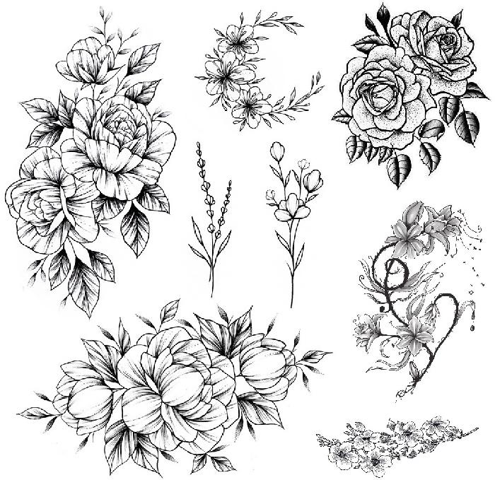 Цветы в черно-белом исполнении