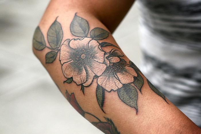 История цветочных татуировок