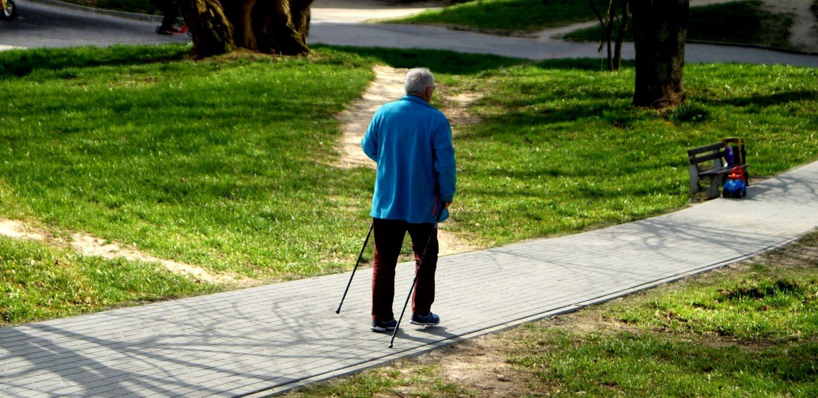 Скандинавская ходьба для пожилых палка
