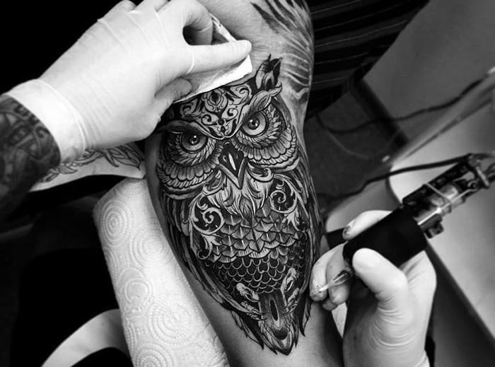 Значение тату совы