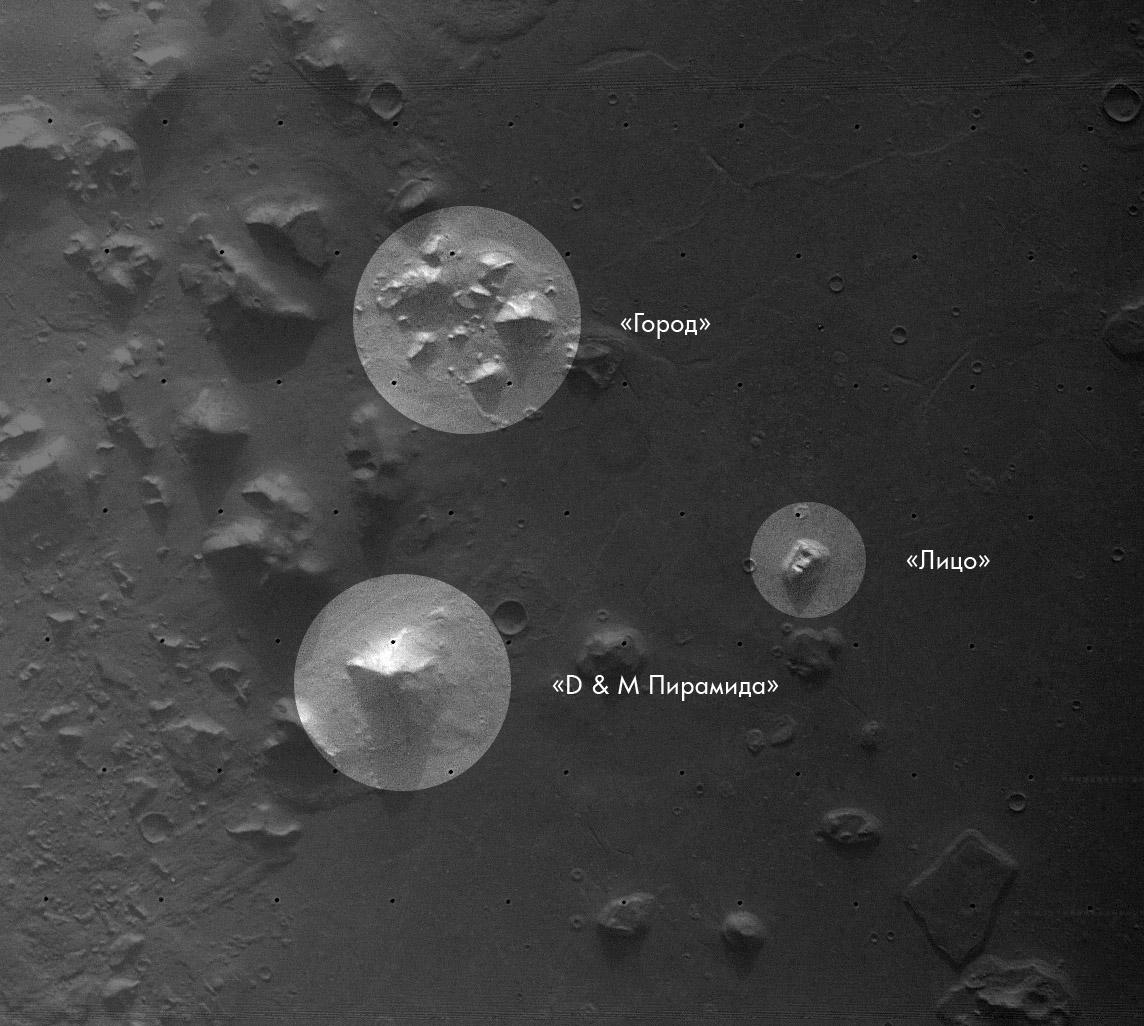 Изображение региона Кидония на Марсе