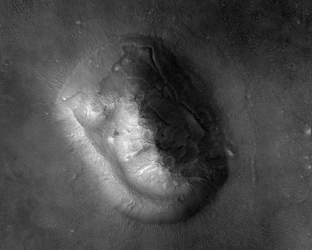 Знаменитое лицо на Марсе