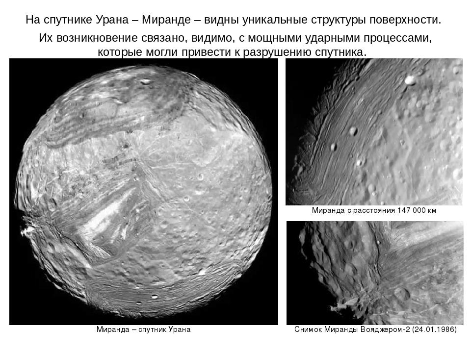 Снимки поверхности спутника Урана
