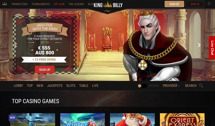 Виртуальное казино Кинг Билли