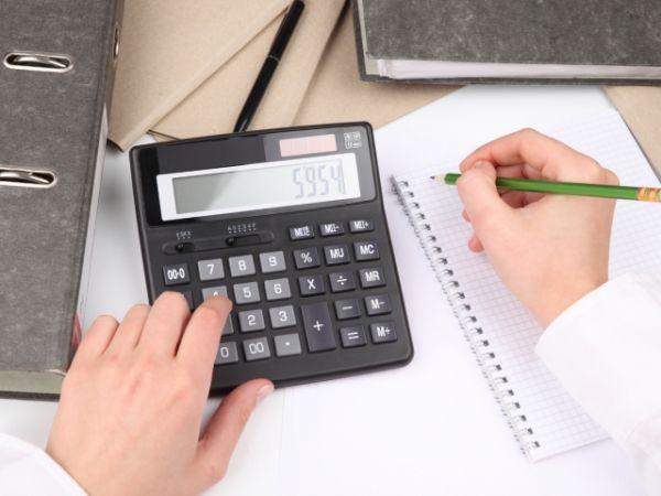 Расчет платежей на калькуляторе