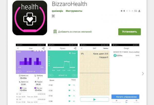Приложение BizzaroHealth